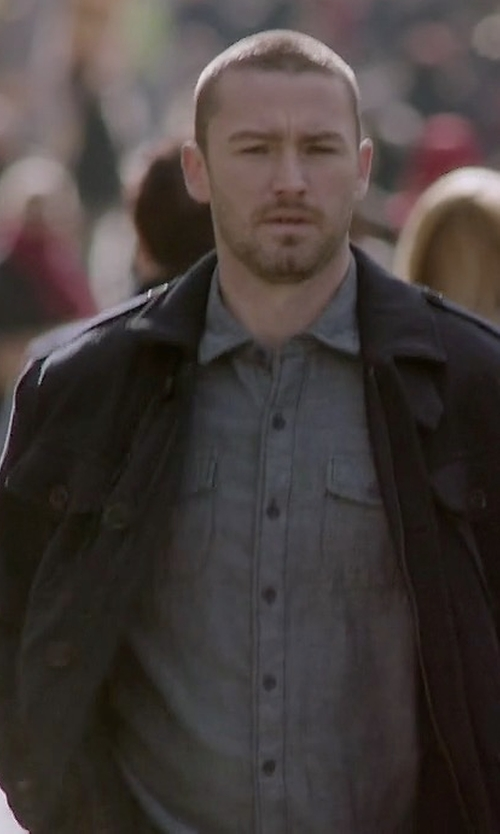 Jake McLaughlin with Jean Shop Esquire Chambray Workshirt in Quantico