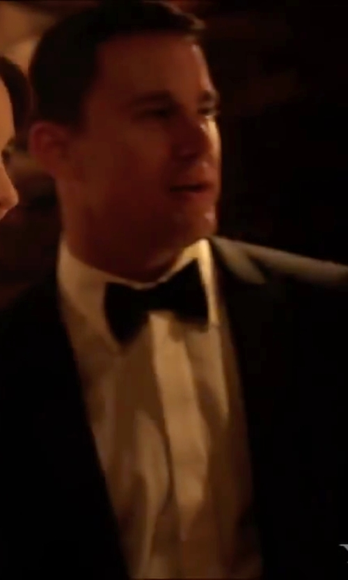 Channing Tatum with Tagliatore 'Bruce' Tuxedo Suit in Side Effects
