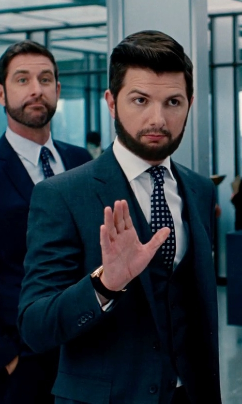 Adam Scott with Bar III Slim-Fit Solid Dress Shirt in The Secret Life of Walter Mitty