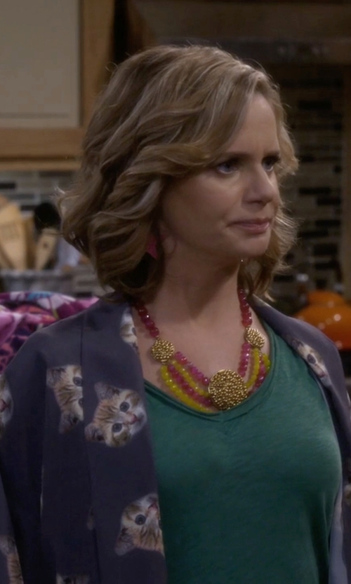 Andrea Barber with Zhelda Tank Top in Fuller House