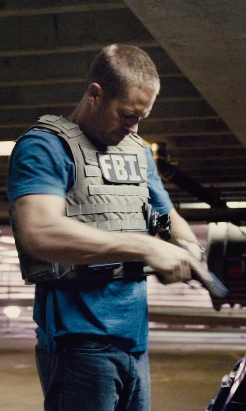 Paul Walker with Point Blank Active Shooter Kit Tactical Vest in Furious 7
