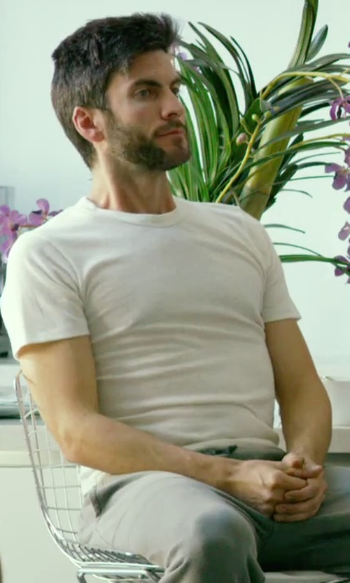 Wes Bentley with Zimmerli Cotton-Blend T-Shirt in We Are Your Friends