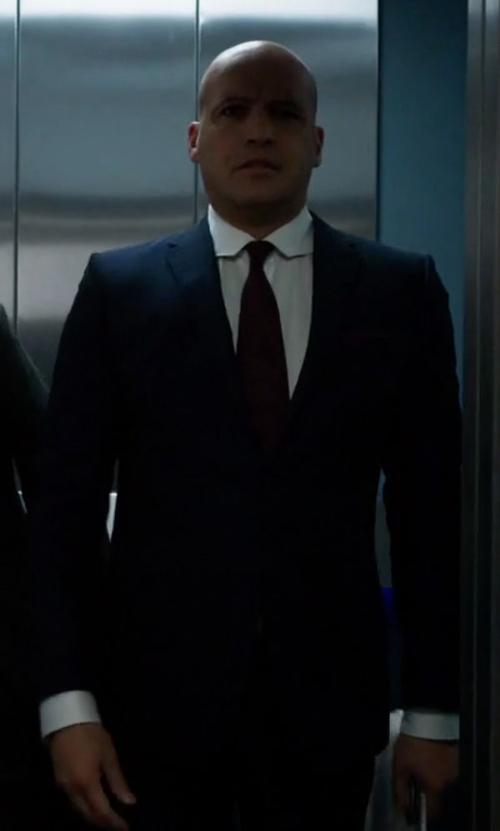 Billy Zane with Boss Hugo Boss Huge Genius Slim-Fit Basic Suit in Guilt