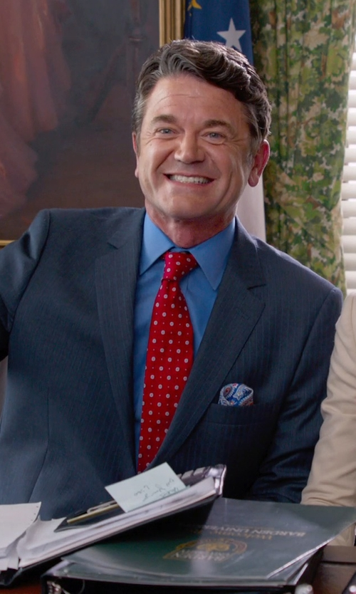 John Michael Higgins with Gucci Regular-Fit Solid Dress Shirt in Pitch Perfect 2