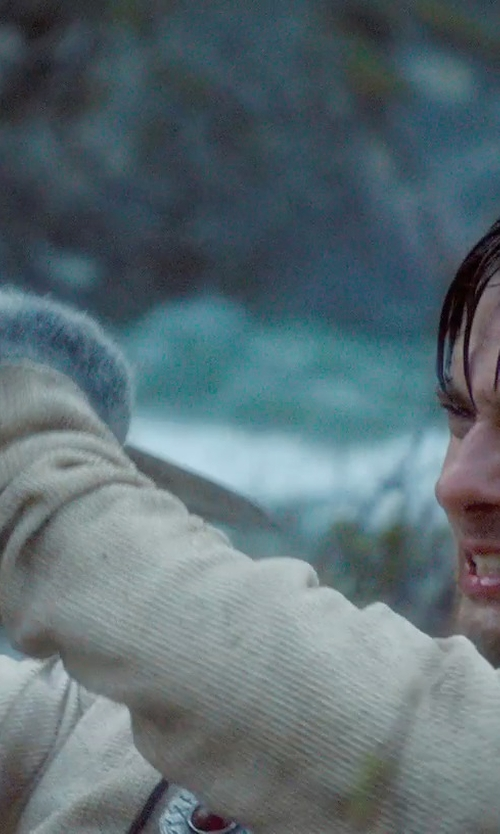 Ben Barnes with Jacqueline West (Costume Designer) Custom Made Medieval Knit Hooded Sweater (Tom Ward) in Seventh Son