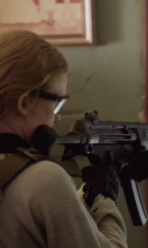 Mireille Enos with Rothco Street Shield Police Gloves in Sabotage