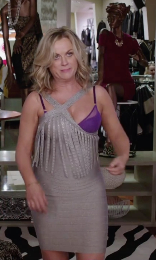 Amy Poehler with Opopark Clothing Co. Fashion  Tassel bandage Dress in Sisters