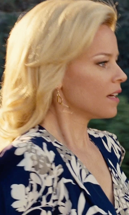 Elizabeth Banks with Jones New York Collection Plus Size Floral-Print Pleated Blouse in Love & Mercy