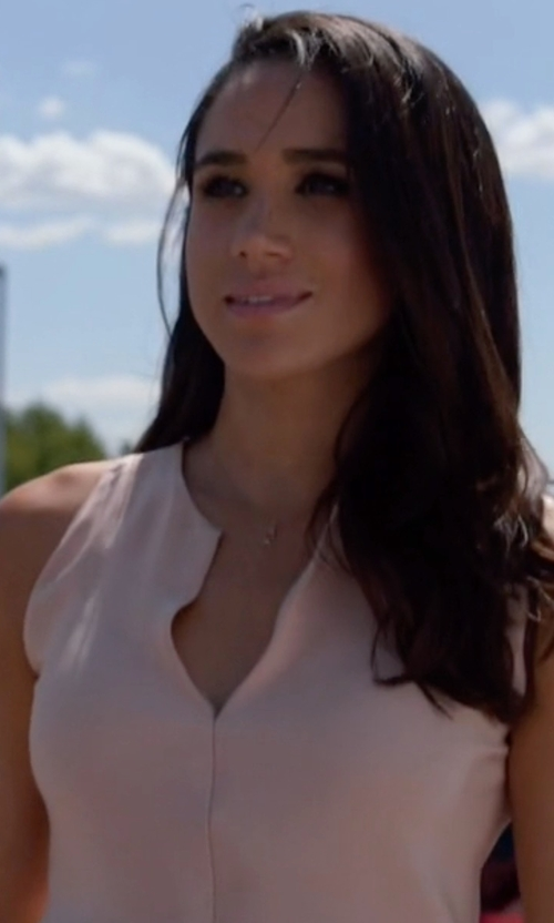 Meghan Markle with Soft Joie Verve Tank Top in Suits