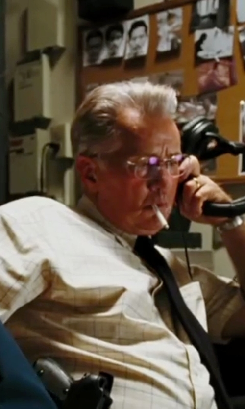 Martin Sheen with Tommy Bahama 'Hawaii Plaid' Sport Shirt in The Departed