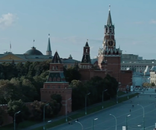 Tom Cruise with The Moscow Kremlin Moscow, Russia in Mission: Impossible - Ghost Protocol