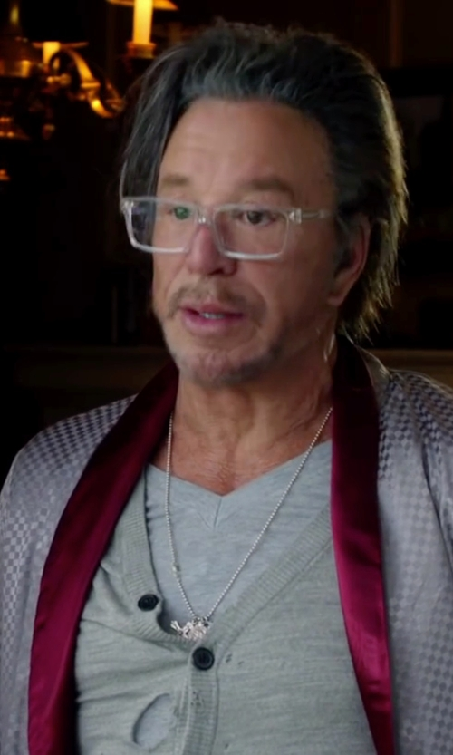 Mickey Rourke with Rag & Bone Perfect Jersey Tee Shirt in Ashby