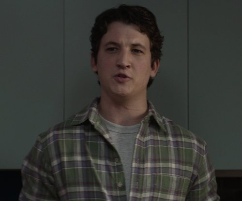 Miles Teller with Vince Tri-Color Plaid Button-Up Shirt in That Awkward Moment