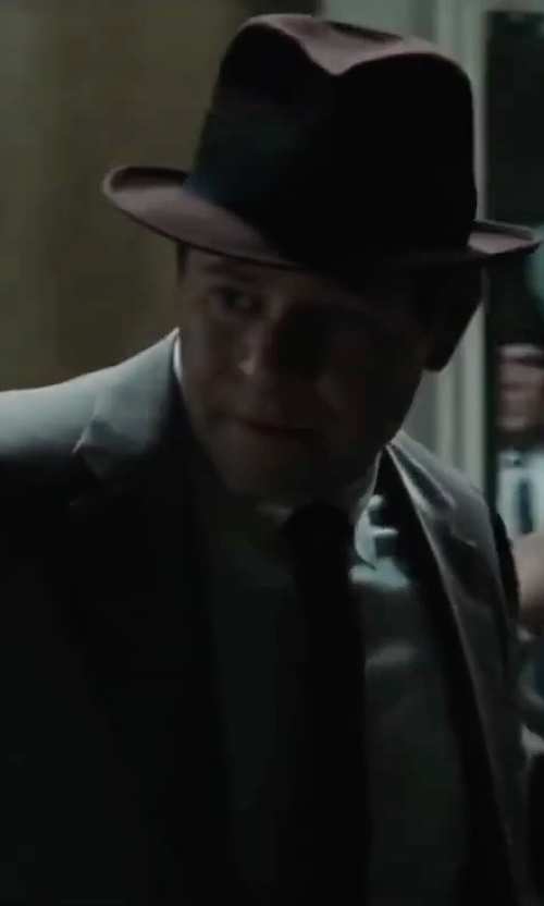 Domenick Lombardozzi with Gillingham Check Classic Fit Button Cuff Shirt in Bridge of Spies