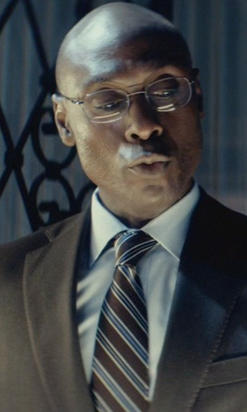 Lance Reddick with Roundtree & Yorke Racing Stripes Tie in John Wick
