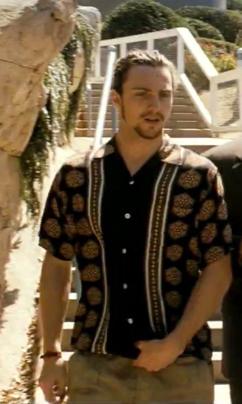 Aaron Taylor-Johnson with Vince Five-Pocket Twill Trousers in Savages