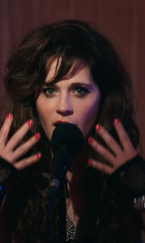 Zooey Deschanel with Banana Republic Leather Peg Cuff Bracelet in Rock The Kasbah