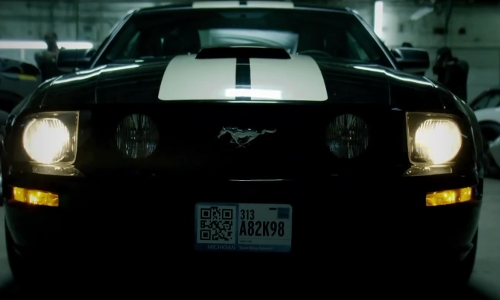 Paul Walker with Ford Mustang in Brick Mansions