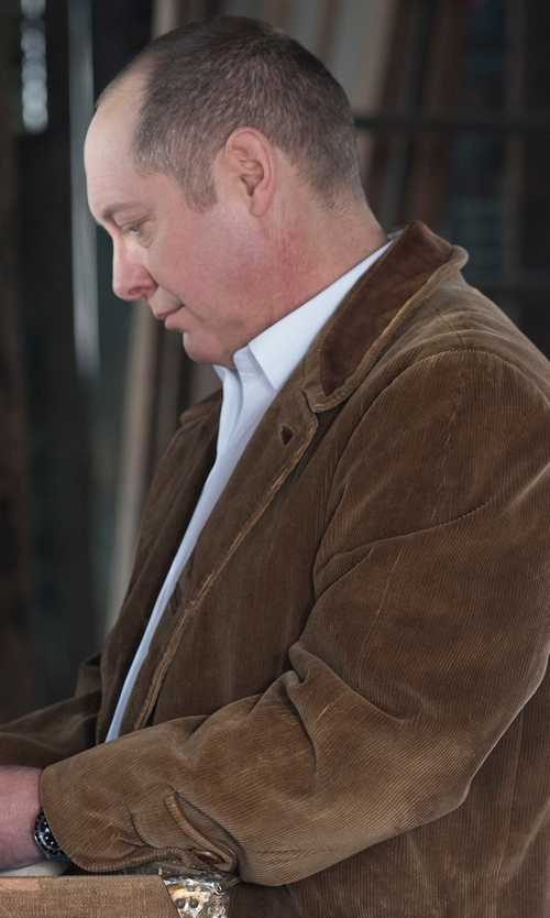 James Spader with Brixtol Strummer Wax Jacket in The Blacklist