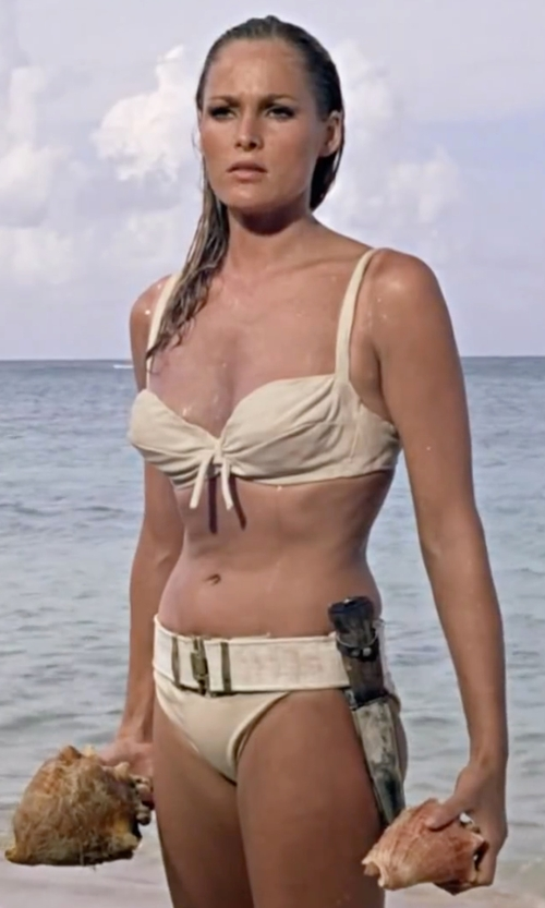 Ursula Andress with Tessa Prendergast (Costume Designer) Custom Made Two Piece Bikini in Dr. No