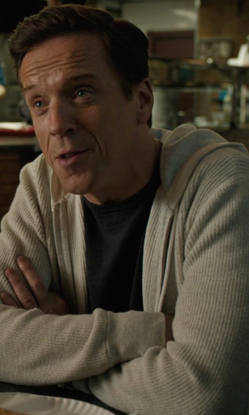 Damian Lewis with Rag & Bone Jaxson Hoodie in Billions