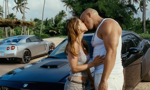 Vin Diesel with Dodge 2009 Challenger SRT-8 Coupe in Fast Five