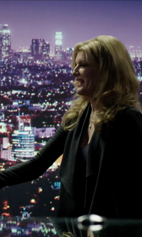 Rene Russo with C by Bloomingdale's Basic Cashmere Cardigan in Nightcrawler