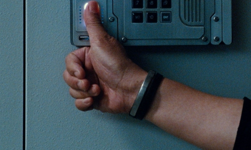 BD Wong with Ursul U-Turn Twice Leather Medium Bracelet in Jurassic World