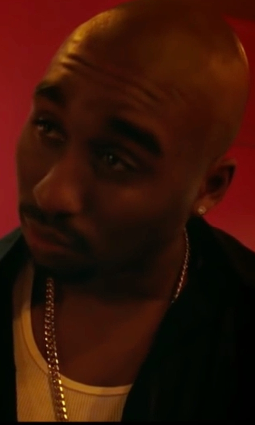 Demetrius Shipp Jr. with Superism Judah Button Down Shirt in All Eyez on Me