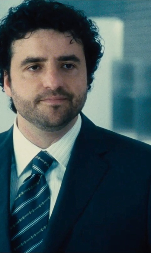 David Krumholtz with Isaia 7 Fold Mens luxury necktie tie in The Judge