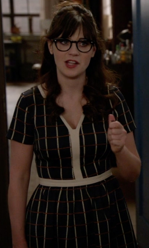 Zooey Deschanel with Modcloth Pertinent Pacing Dress  in New Girl