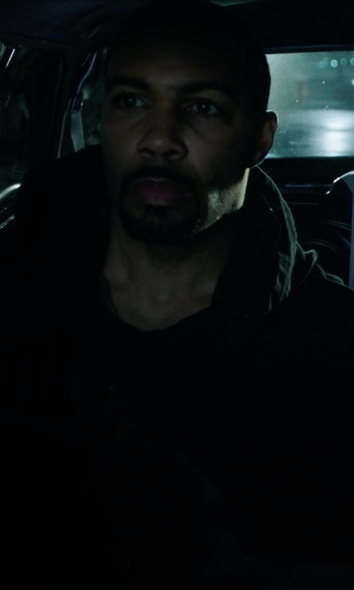 Omari Hardwick with The North Face El Misti Trench II Hooded Jacket in Power