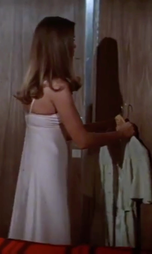 Barbara Bach with Alice + Olivia Fierra Y Back Tank Dress in The Spy Who Loved Me