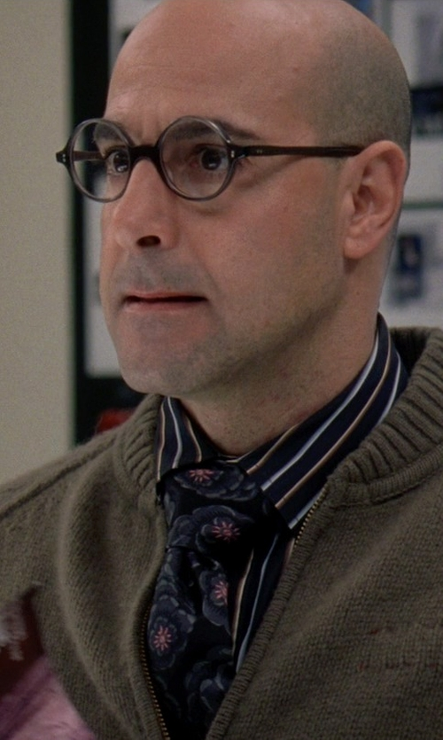 Stanley Tucci with John W. Nordstrom Woven Silk Tie in The Devil Wears Prada