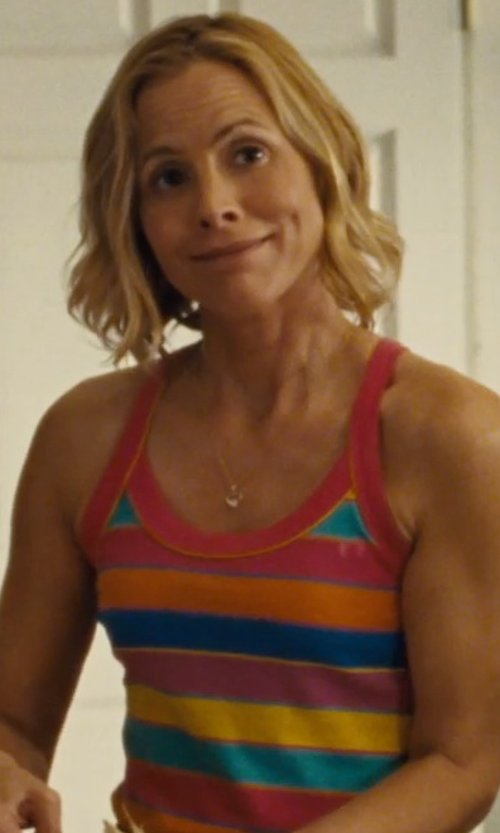 Maria Bello with Marc Jacobs	 Golden Heart Pendant Necklace in McFarland, USA