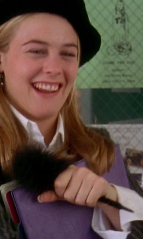 Alicia Silverstone with Comfy USA Button-Down Shirt in Clueless