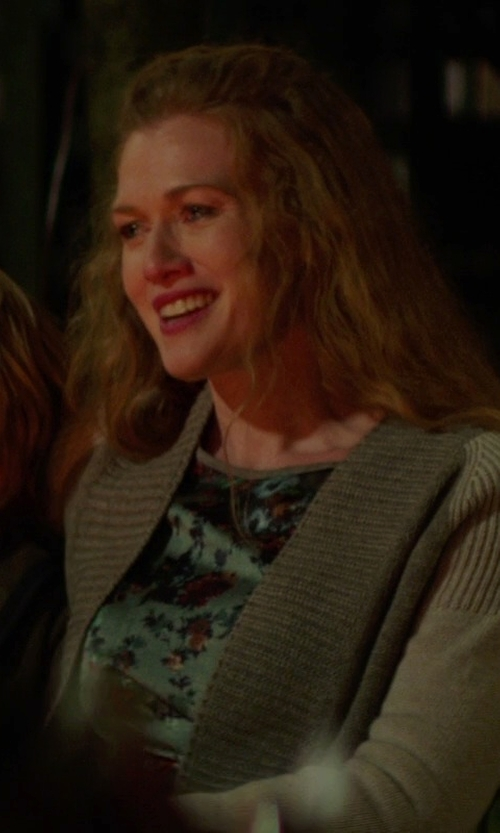 Mireille Enos with Laura Ashley Scoopneck Smudge Floral Print Top in If I Stay