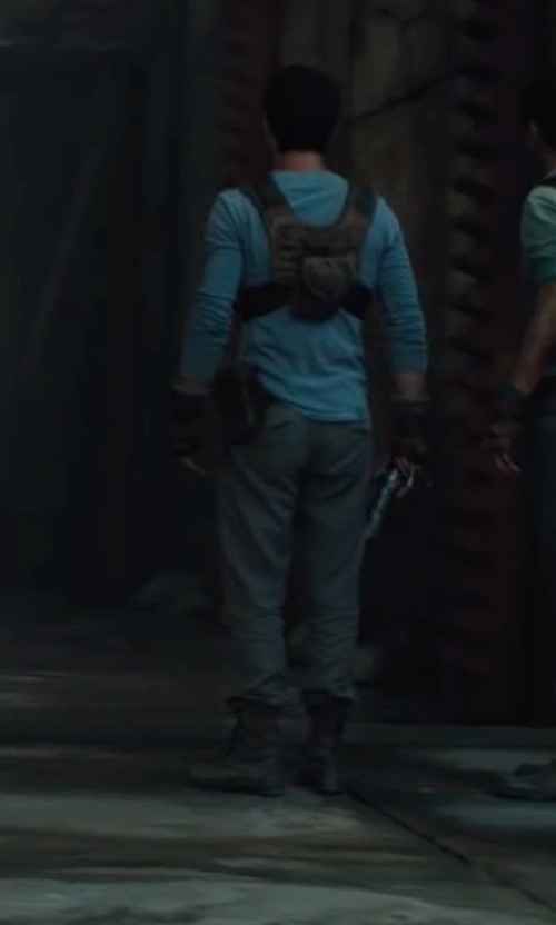 Dylan O'Brien with Palladium Baggy Leather Gusset Boots in The Maze Runner