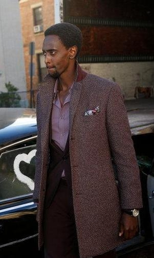 Edi Gathegi with Austin Reed Viyella PaisleyPocket Square in The Blacklist
