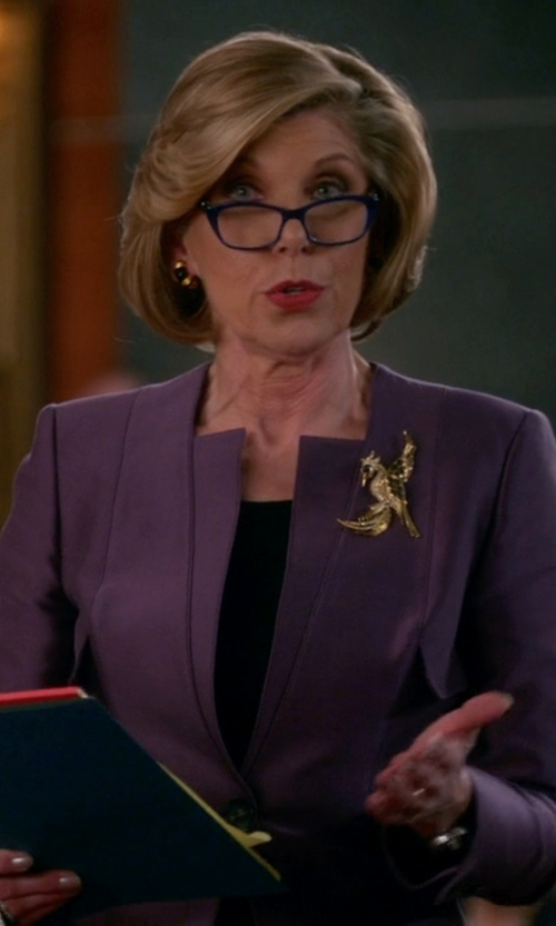 Christine Baranski with Zeiss Eyewear Butterfly Eyeglasses in The Good Wife