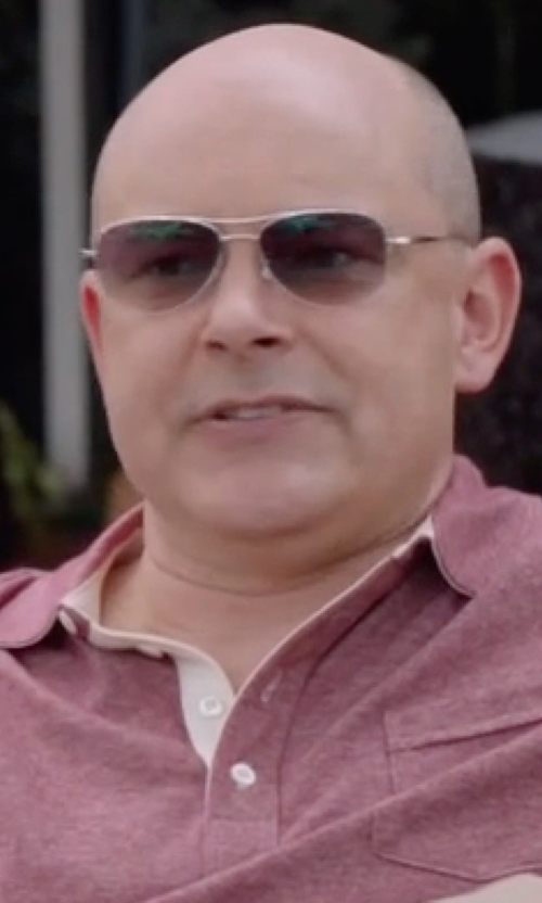Rob Corddry with Carrera Aviator Sunglasses in Ballers