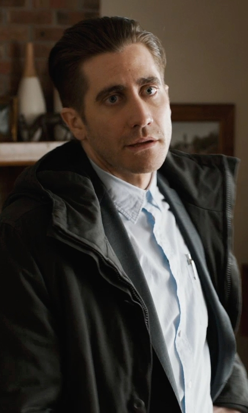 Jake Gyllenhaal with Armani Collezioni Solid Oxford Dress Shirt in Prisoners