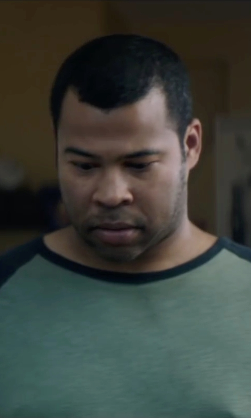 Jordan Peele with Volcom Solid Heather Raglan T-Shirt in Keanu