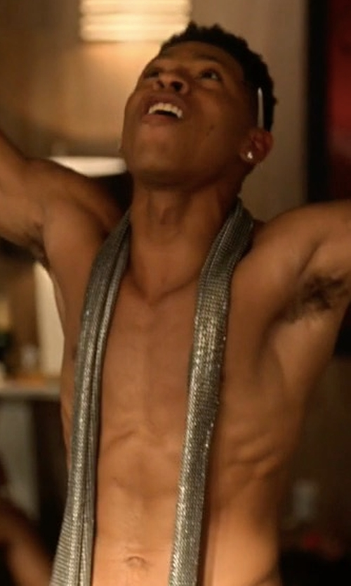 Bryshere Y. Gray with Dsquared2 Sequin Skinny Scarf in Empire