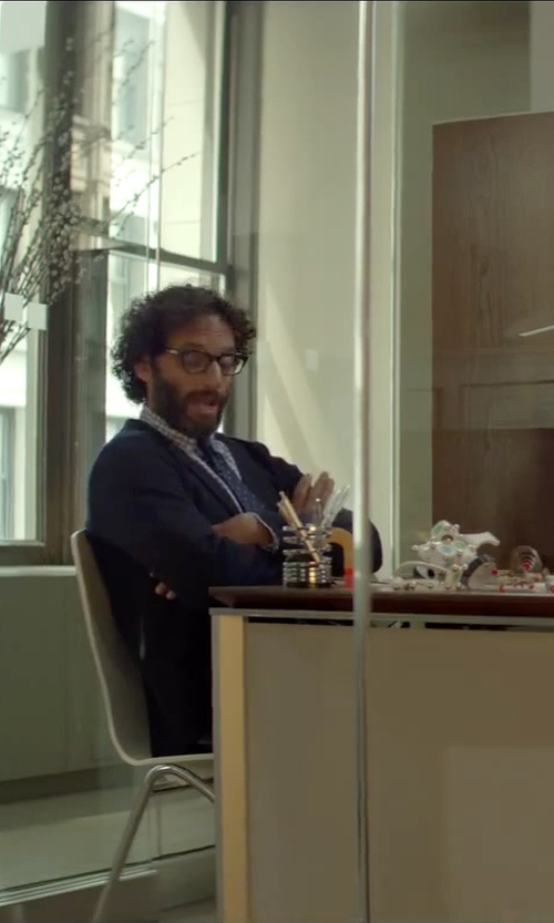 Jason Mantzoukas with Boss Hugo Boss 'James/Sharp' Trim Fit Wool Suit in Sleeping with Other People