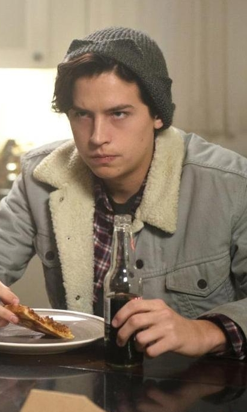 Cole Sprouse with Levi's Sherpa Trucker Jacket in Riverdale