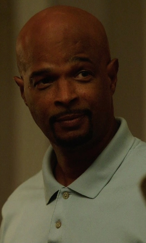 Damon Wayans with Neiman Marcus Cashmere-Silk Polo Shirt in Lethal Weapon