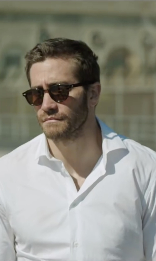 Jake Gyllenhaal with Eton Textured Solid Dress Shirt in Demolition