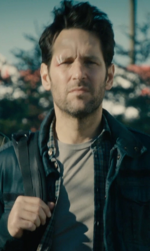 Paul Rudd with Armani Jeans Largo Logo T-Shirt in Ant-Man