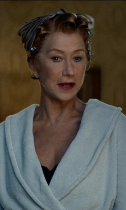 Helen Mirren with Hanro Plush Terry Wrap Robe in The Hundred-Foot Journey